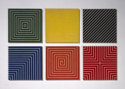 Frank Stella (American, born 1936). Delaware Crossing, 1962. Alkyd on raw canvas (Benjamin Moore flat wall paint), 12 1/16 x 12 1/16 in (30.6 x 30.6 cm). Brooklyn Museum, Gift of Andy Warhol