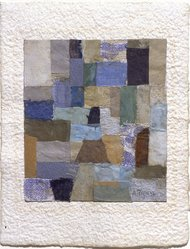 Anne Ryan (American, 1889-1954). Number 405, December, 1951. Fabric and paper collage, 6 3/8 x 5 in. (16.2 x 12.7 cm). Brooklyn Museum, Gift of Elizabeth McFadden and the Plymouth Fund, 72.29.1. © artist or artist's estate