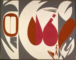 Lee Krasner (American, 1908-1984). Mysteries, 1972. Oil on cotton duck, 69 1/2 x 89 1/2 in. (176.5 x 227.3 cm). Brooklyn Museum, Dick S. Ramsay Fund, 73.100. © artist or artist's estate