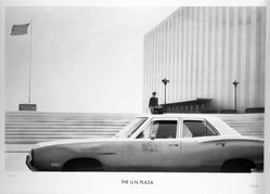 Paul Staiger. U.N. Plaza, 1972. Lithograph on paper, sheet: 24 1/8 x 34 1/4 in. (61.3 x 87 cm). Brooklyn Museum, Designated Purchase Fund, 73.11j. © artist or artist's estate