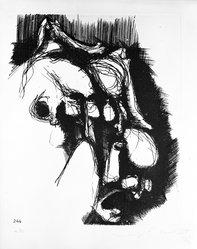 Luigi E. Mattei (Italian, born 1945). Volti (No. 244), 1973. Etching on paper, sheet: 19 1/2 x 13 5/8 in. (49.5 x 34.6 cm). Brooklyn Museum, Gift of the artist, 73.159.2. © artist or artist's estate