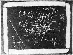 Antoni Tàpies (Spanish, 1923-2012). Pissarra, 1972. Etching and carborundum technique on Guarro paper, Image: 23 5/8 x 30 3/8 in. (60 x 77.2 cm). Brooklyn Museum, Designated Purchase Fund, 73.38. © artist or artist's estate