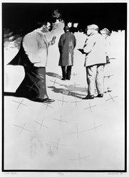 Ben Mahmoud (American, 1935-2009). Image 3 I 34 C, 1974. Screenprint on board, sheet: 24 x 18 1/4 in. (61 x 46.4 cm). Brooklyn Museum, A. Augustus Healy Fund, 74.132.3. © artist or artist's estate