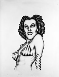 Edward Paschke (American, 1939-2004). Rosarita, 1973. Lithograph on paper, sheet: 30 x 22 1/2 in. (76.2 x 57.2 cm). Brooklyn Museum, A. Augustus Healy Fund, 74.132.4. © artist or artist's estate