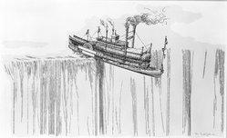 William Crutchfield (American, born 1932). City of Ultramarine, 1973. Screenprint, Image: 35 3/8 x 23 5/8 in. (89.9 x 60 cm). Brooklyn Museum, Gift of Mr. and Mrs. Samuel Dorsky, 74.178.14. © artist or artist's estate