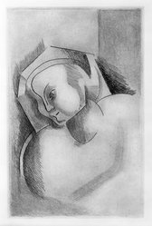 Alexander Archipenko (American, born Ukraine, 1887-1964). Angelica Archipenko, 1922. Etching on paper, Image: 6 7/8 x 4 1/2 in. (17.5 x 11.4 cm). Brooklyn Museum, Gift of Mr. and Mrs. Samuel Dorsky, 74.178.1. © artist or artist's estate