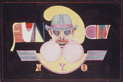 Richard Lindner (American, born Germany, 1901-1978). Fun City, 1969. Lithograph on paper, sheet: 28 x 40 1/8 in. (71.1 x 101.9 cm). Brooklyn Museum, Gift of Mr. and Mrs. Samuel Dorsky, 74.178.54. © artist or artist's estate