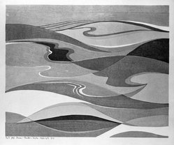Stanton Macdonald-Wright (American, 1890-1973). The Spring Sea Swelling and Falling All the Day, 1966-1967. Woodcut, Sheet: 17 15/16 x 21 7/16 in. (45.6 x 54.5 cm). Brooklyn Museum, Anonymous gift, 74.181.7. © artist or artist's estate
