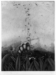 Maurilio Minuzzi (Italian, born 1939). Suchapparatur, 1971. Etching and aquatint on paper, sheet: 20 7/8 x 15 1/8 in. (53 x 38.4 cm). Brooklyn Museum, Designated Purchase Fund, 74.68.1. © artist or artist's estate