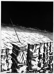 David Smyth (American, born 1943). Untitled (Javelin Proposal), 1972. Lithograph on paper, sheet: 31 x 21 in. (78.7 x 53.3 cm). Brooklyn Museum, Designated Purchase Fund, 75.43.2. © artist or artist's estate