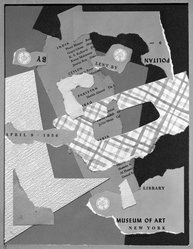 Roger Selchow (American, 1911-1995). East and West, 1956. Collage on cardboard Brooklyn Museum, Gift of the artist, 75.72.1. © artist or artist's estate