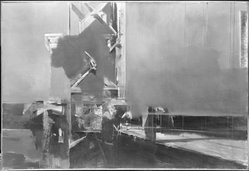 Michael Zansky (American, born 1947). Grounded Crossing, 1975. Oil on canvas, 44 x 67 in. (111.8 x 170.2 cm). Brooklyn Museum, John B. Woodward Memorial Fund, 76.125. © artist or artist's estate