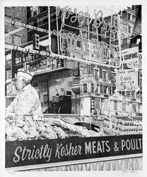 Don Eddy (American, born 1944). Rosen Bros. Strictly Kosher Meats, 1973. Lithograph (color) acrylic, Image: 24 1/8 x 20 1/4 in. (61.3 x 51.4 cm). Brooklyn Museum, Gift of Dr. and Mrs. Samuel S. Mandel, 76.15.1. © artist or artist's estate