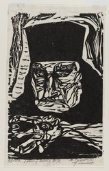 Nicholas Sperakis (American, born 1943). Looking Down at 7, 1964. Woodcut on paper, sheet: 10 7/16 x 6 1/2 in. (26.5 x 16.5 cm). Brooklyn Museum, Gift of Judy Jana, 76.199. © artist or artist's estate