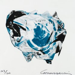 John Chamberlain (American, 1927-2011). [Untitled], 1973. Color lithograph on acetate, Sheet: 8 15/16 x 8 15/16 in. (22.7 x 22.7 cm). Brooklyn Museum, Gift of Theodore Kheel, 76.205.3. © artist or artist's estate
