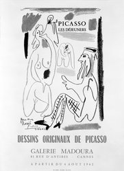Pablo Picasso (Spanish, 1881-1973). Picasso Les Dejeuners, 1962. Offset lithograph poster on wove paper, Sheet: 20 3/4 x 15 in. (52.7 x 38.1 cm). Brooklyn Museum, Gift of Leon Pomerance, 76.78.1. © artist or artist's estate