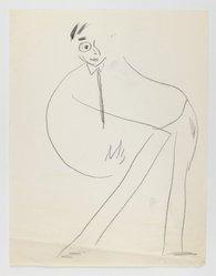 Abe Birnbaum (American, 1899-1966). Untitled Caricature (Man), ca. 1937. Graphite on paper, sheet: 11 1/16 x 8 1/2 in. (28.1 x 21.6 cm). Brooklyn Museum, Gift of George K. Hourwich, 77.155.2i. © artist or artist's estate