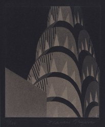 Frances Myers (American, 1936-2014). Gotham Detail, 1977. Aquatint on paper, sheet: 15 x 10 in. (38.1 x 25.4 cm). Brooklyn Museum, Gift of Janet Ruttenberg, 77.159.1. © artist or artist's estate