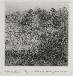 Richard Claude Ziemann (American, born 1932). Rybak's Field, 1966. Etching on paper, sheet: 8 3/4 x 8 9/16 in. (22.2 x 21.7 cm). Brooklyn Museum, Gift of the artist, 77.162.4. © artist or artist's estate