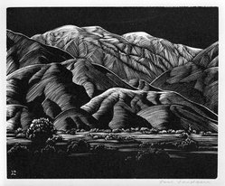 Paul Landacre (American, 1893-1963). Baldy, 1932. Wood engraving, Sheet: 4 3/4 x 5 9/16 in. (12.1 x 14.1 cm). Brooklyn Museum, Designated Purchase Fund, 77.172.1. © artist or artist's estate