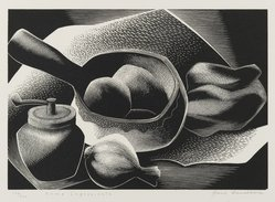 Paul Landacre (American, 1893-1963). Some Ingredients, 1953-1954. Wood engraving, Sheet: 8 1/4 x 9 3/8 in. (21 x 23.8 cm). Brooklyn Museum, Designated Purchase Fund, 77.172.2a-b. © artist or artist's estate