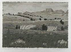 Gordon Mortensen (American, born 1938). Teddy Roosevelt National Park, 1971. Reduction woodcut on paper, sheet: 14 3/4 x 20 1/2 in. (37.5 x 52.1 cm). Brooklyn Museum, Gift of Stephen Foster, 77.224.11. © artist or artist's estate
