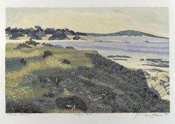 Gordon Mortensen (American, born 1938). Carmel Meadows, 1977. Reduction woodcut on paper, sheet: 15 1/8 x 21 3/4 in. (38.4 x 55.2 cm). Brooklyn Museum, Gift of Stephen Foster, 77.224.9. © artist or artist's estate