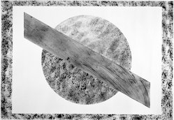 David Kremgold (American, born 1944). Circle with Diagonal Bar, 1977. India ink on paper, 60 x 42 in. (152.4 x 106.7 cm). Brooklyn Museum, Gift of Albert Kremgold, 77.225. © artist or artist's estate