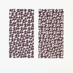 Anni Albers (American, 1899-1994). Fox II, 1972. Photo-offset lithograph, Sheet: 20 x 20 in. (50.8 x 50.8 cm). Brooklyn Museum, Gift of Mr. and Mrs. Nicholas Fox Weber, 77.229.2. © artist or artist's estate