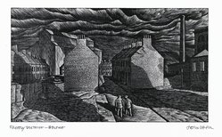 John DePol (American, 1913-2004). Factory District - Belfast, 1977. Wood engraving, Sheet: 8 1/2 x 11 in. (21.6 x 27.9 cm). Brooklyn Museum, Gift of Don Wesely, 78.101.59.1. © artist or artist's estate