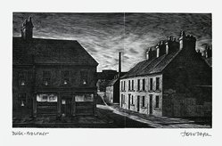 John DePol (American, 1913-2004). Dusk - Belfast, 1977. Wood engraving, Sheet: 8 1/2 x 11 in. (21.6 x 27.9 cm). Brooklyn Museum, Gift of Don Wesely, 78.101.59.3. © artist or artist's estate