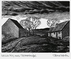 John DePol (American, 1913-2004). Leslies Hill, Near Toombridge, 1977. Wood engraving, Sheet: 11 x 8 1/2 in. (27.9 x 21.6 cm). Brooklyn Museum, Gift of Don Wesely, 78.101.59.6. © artist or artist's estate