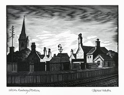 John DePol (American, 1913-2004). Ulster Railway Station, 1977. Wood engraving, Sheet: 11 x 8 1/2 in. (27.9 x 21.6 cm). Brooklyn Museum, Gift of Don Wesely, 78.101.59.8. © artist or artist's estate