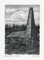 John DePol (American, 1913-2004). Original Drake Well - Titusville, 1959. Wood engraving, Sheet: 10 15/16 x 8 7/16 in. (27.8 x 21.4 cm). Brooklyn Museum, Gift of Don Wesely, 78.101.60.1. © artist or artist's estate