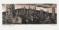 John DePol (American, 1913-2004). Old Wells - Pennsylvania, 1959. Wood engraving, Sheet: 8 7/16 x 10 15/16 in. (21.4 x 27.8 cm). Brooklyn Museum, Gift of Don Wesely, 78.101.60.3. © artist or artist's estate