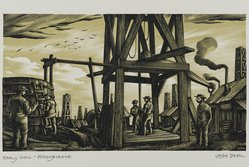 John DePol (American, 1913-2004). Early Well - Pennsylvania, 1959. Wood engraving, Sheet: 8 7/16 x 10 15/16 in. (21.4 x 27.8 cm). Brooklyn Museum, Gift of Don Wesely, 78.101.60.5. © artist or artist's estate