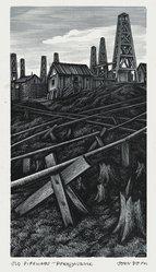 John DePol (American, 1913-2004). Old Pipelines - Pennsylvania, 1959. Wood engraving, Sheet: 10 15/16 x 8 7/16 in. (27.8 x 21.4 cm). Brooklyn Museum, Gift of Don Wesely, 78.101.60.6. © artist or artist's estate