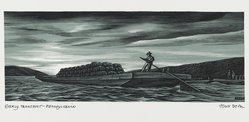 John DePol (American, 1913-2004). Early Transport - Pennsylvania, 1959. Wood engraving, Sheet: 8 7/16 x 10 15/16 in. (21.4 x 27.8 cm). Brooklyn Museum, Gift of Don Wesely, 78.101.60.7. © artist or artist's estate