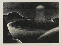 Paul Landacre (American, 1893-1963). Laguna Cove, 1935-1941. Wood engraving, Sheet: 7 1/4 x 10 5/8 in. (18.4 x 27 cm). Brooklyn Museum, Designated Purchase Fund, 78.109. © artist or artist's estate