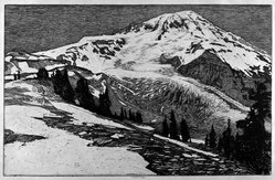 Roi Partridge (American, 1888-1984). The Marvelous Mountain, n.d. Etching on vellum, sheet: 12 9/16 x 18 3/16 in. (31.9 x 46.2 cm). Brooklyn Museum, Gift of the artist, 78.157.1. © artist or artist's estate