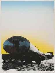 Georgette Batlle (American, born 1942). F.C., 1974. Screenprint in color Brooklyn Museum, Gift of the Storm King Art Center, 78.162.5. © artist or artist's estate