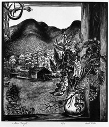 Herbert Waters (American, 1903-1996). Autumn Boquet, 1952. Wood engraving on paper, sheet: 10 1/4 x 9 in. (26 x 22.9 cm). Brooklyn Museum, Gift of the artist, 78.163.1. © artist or artist's estate