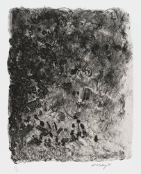 Mark Tobey (American, 1890-1976). Ritual, 1973. Lithograph on paper, sheet: 17 3/4 x 14 1/2 in. (45.1 x 36.8 cm). Brooklyn Museum, Gift of Everett Lowe, 78.223.2. © artist or artist's estate