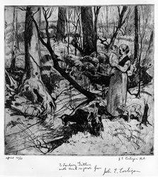 John Edward Costigan (American, 1888-1972). Untitled, n.d. Etching Brooklyn Museum, Bequest of Samuel Zachary Gitlin, 78.54.1. © artist or artist's estate