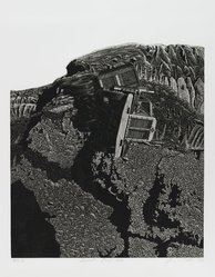 James Torlakson (American, born 1951). Incident on Devils Slide, 1978. Aquatint and etching on paper, sheet: 17 1/8 x 13 7/8 in. (43.5 x 35.2 cm). Brooklyn Museum, Gift of the artist, 78.99. © artist or artist's estate