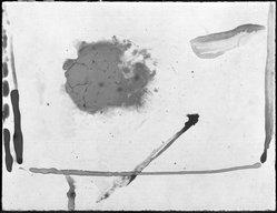 Helen Frankenthaler (American, 1928-2011). Untitled, (THANKSGIVING 1973), 1973. Painting on ceramic tile, 13 1/4 x 17 1/2 in. (33.7 x 44.5 cm). Brooklyn Museum, Gift of Rena Bransten, 79.130. © artist or artist's estate