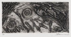 Gary Hansmann (American, born 1940). Ghost Dancer, 1975. Collograph on copper plate, Sheet: 8 1/4 x 12 9/16 in. (21 x 31.9 cm). Brooklyn Museum, Gift of the artist, 79.140.1. © artist or artist's estate