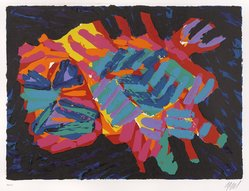 Karel Appel (Dutch, 1921-2006). Devil Cat, 1978. Lithograph on paper, Sheet: 24 3/4 x 32 1/4 in. (62.9 x 81.9 cm). Brooklyn Museum, Gift of Donald Waggoner, 79.222.10. © artist or artist's estate