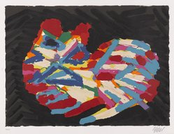 Karel Appel (Dutch, 1921-2006). House Cat, 1978. Lithograph on paper, Sheet: 24 3/4 x 32 1/4 in. (62.9 x 81.9 cm). Brooklyn Museum, Gift of Donald Waggoner, 79.222.11. © artist or artist's estate