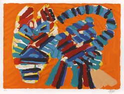 Karel Appel (Dutch, 1921-2006). Sunshine Cat, 1978. Lithograph on paper, Sheet: 24 3/4 x 32 1/4 in. (62.9 x 81.9 cm). Brooklyn Museum, Gift of Donald Waggoner, 79.222.17. © artist or artist's estate
